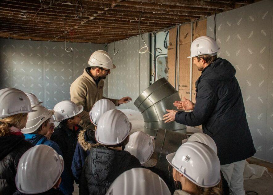 Une école, un chantier